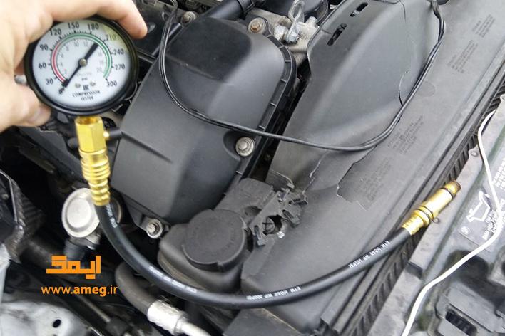 عیب یابی موتور با استفاده از اندازه گیری کمپرس سیلندر